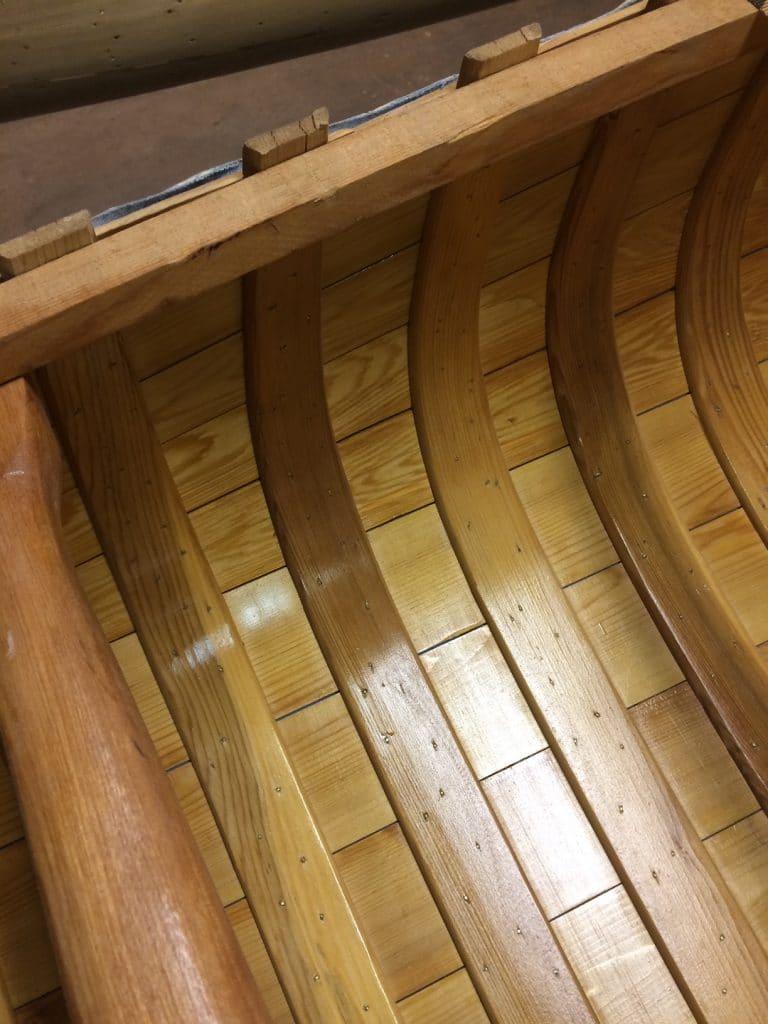 inside of canoe
