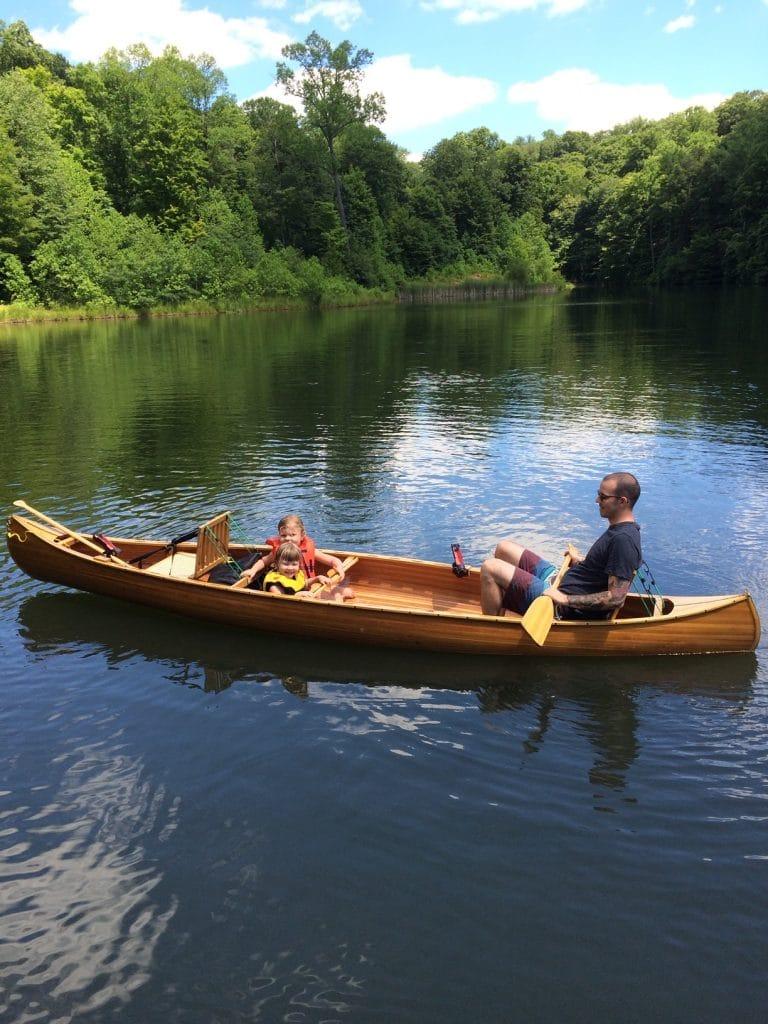 my canoe on lake